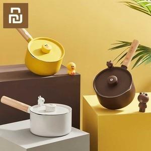 Image 1 - Mini süt tavaları noel hediyesi çikolatalı süt çorbası yapışmaz pişirme kabı için genel kullanım gaz ve indüksiyon ocak