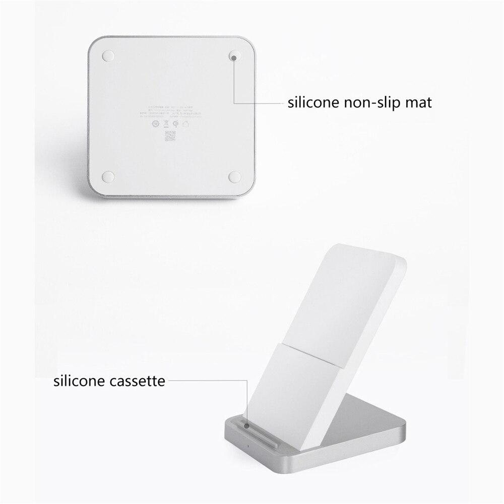 Qi sem fio carregador rápido 30 w com suporte para xiao mi MDY 11 EG vertical refrigerado a ar carregador para mi 9pro 5g para iphone 11 - 4