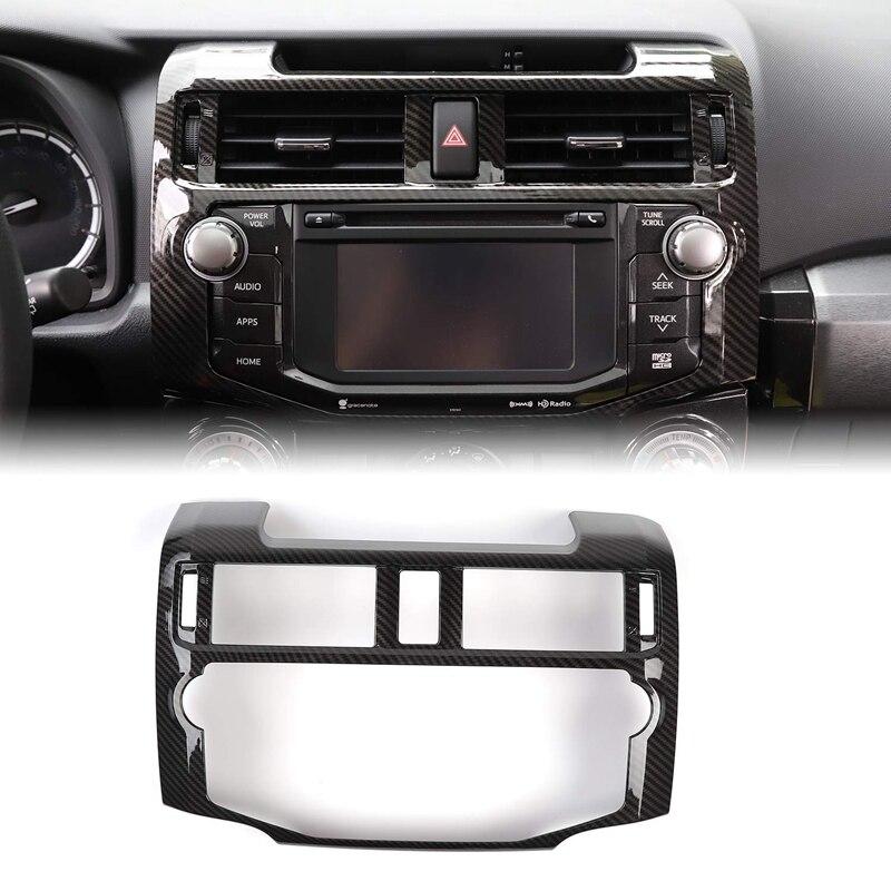 Consola Central, Panel de ajuste de navegación, consola central, cubierta de tablero para Toyota 4Runner 2010-2019, diseño de fibra de carbono