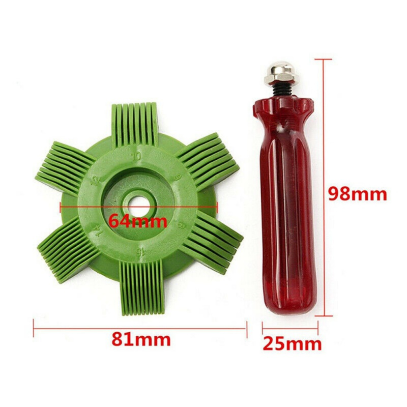 Hot Air Conditioner Fin Repair Comb Car A/C Radiator Condenser Fin Comb Coil Straightener Cleaning Tool Refrigeration