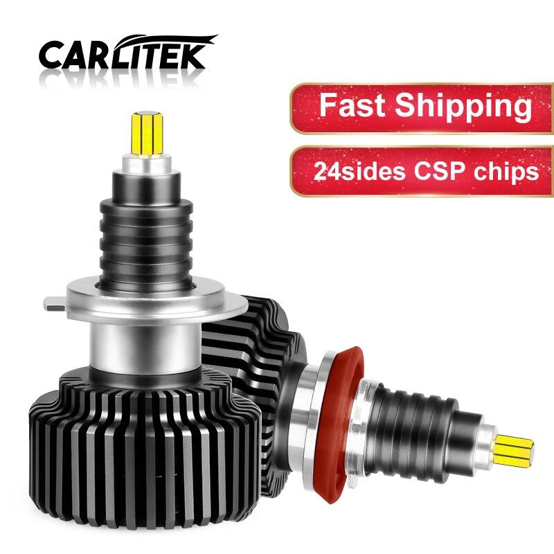 CARLitek 72 PCS CSP Chips H7 LED Bulb 24 Sides 50W H4 18000LM 12V Auto Light H8 H11 Led Lamp HB4 HB3 LED 9005 9006 Car Headlight