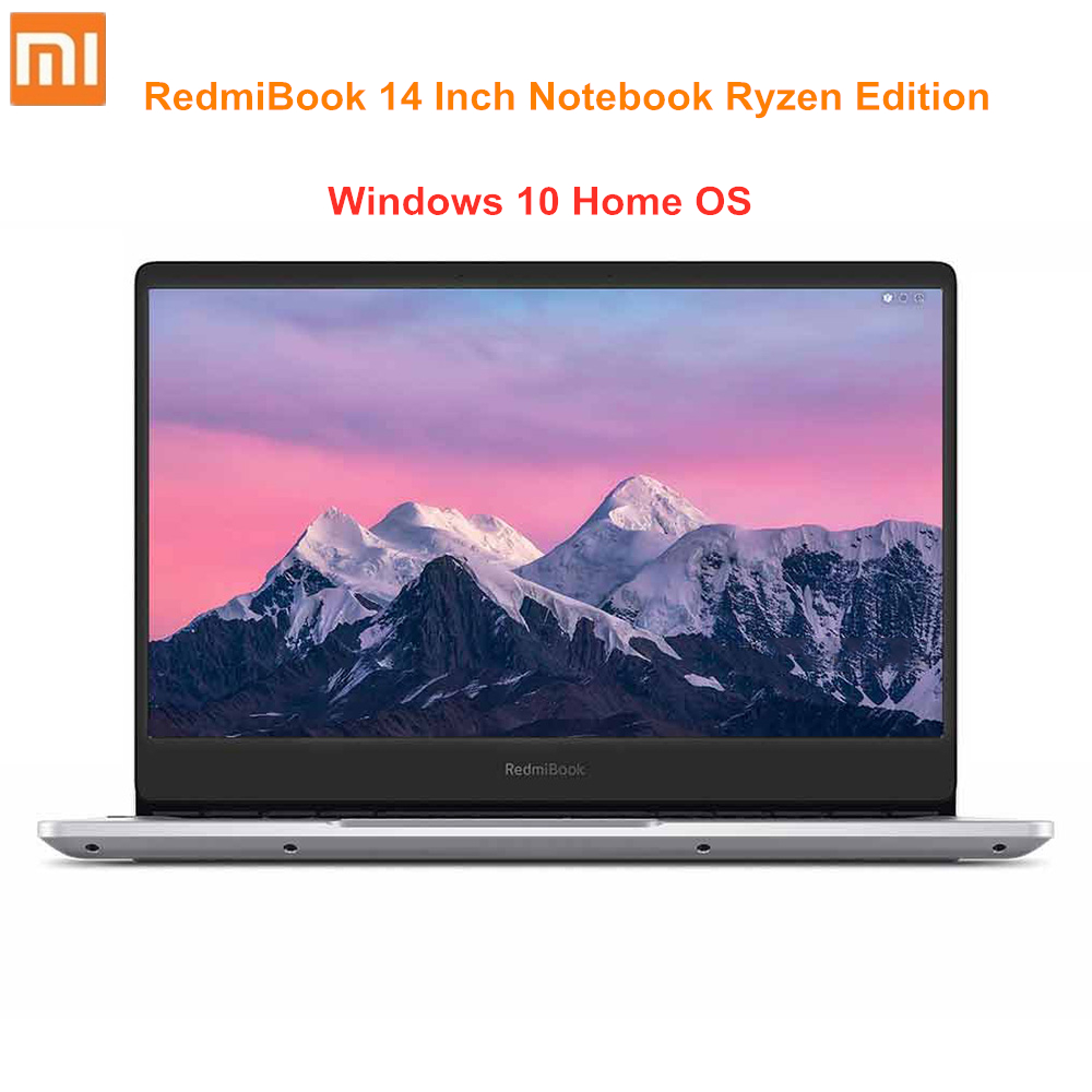 New Arrival Xiaomi RedmiBook 14 Inch Notebook Ryzen Edition AMD Ryzen 5 8GB 256/512GB Ryzen 7 16GB 512GB Windows 10 FHD Laptop