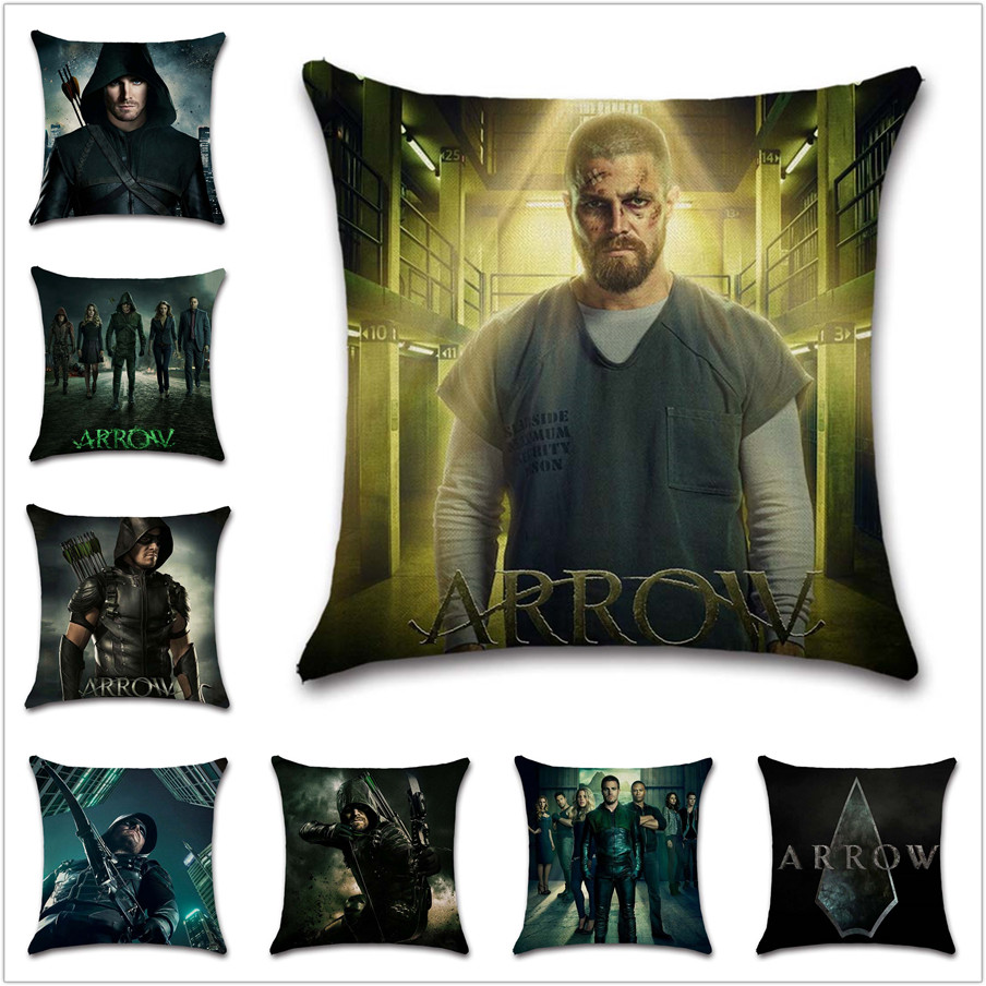 Arrow 7 season TV poster Oliver Queen Cushion Cover Decoration Home sofa chair seat kids bedroom gift friend present pillowcase image