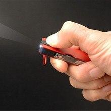 Multifonction en plein air Mini porte-clés couteau lumière LED coupe-ongles Earpick ciseaux pince à épiler poche EDC outils Multi randonnée engrenages