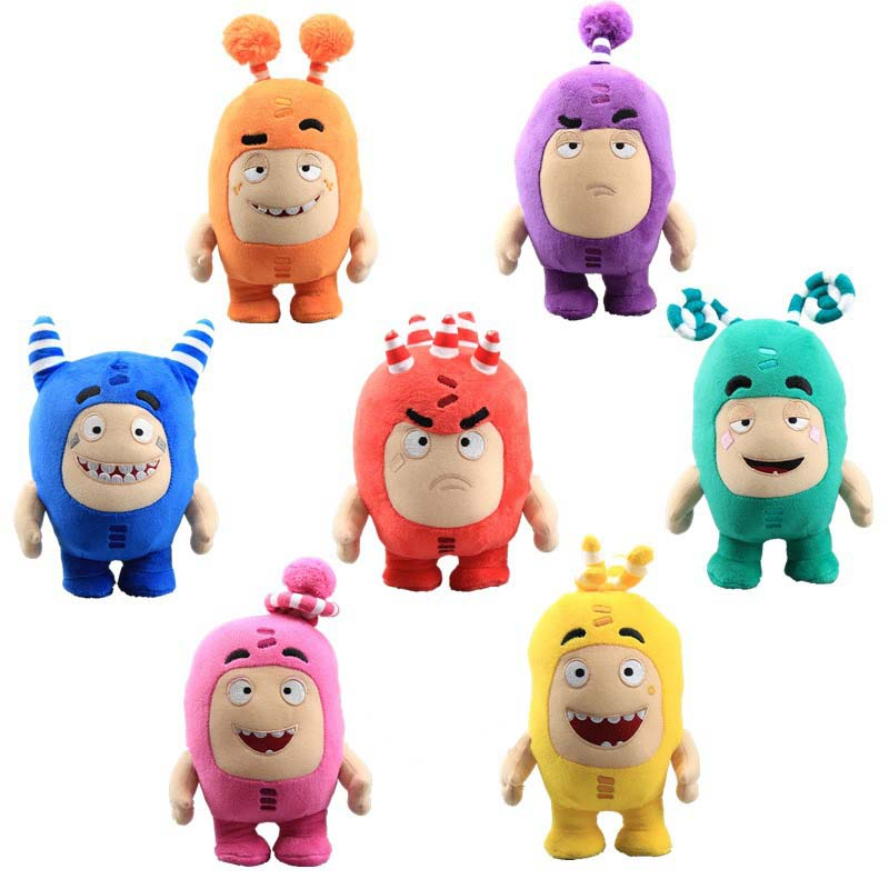 18CM Oddbods Plush Toy Super Cool Soft Stuffed Dolls Treasure Of Soldiers Monster Doll Buuble Pogo Zee Birthday