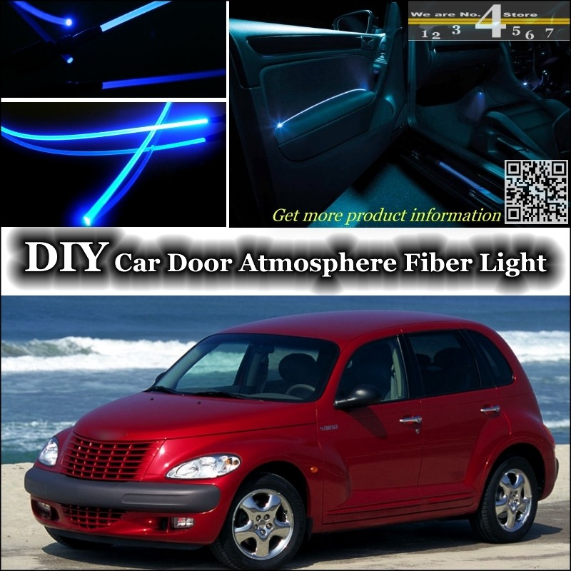 For Chrysler PT Cruiser interior Ambient Light Tuning Atmosphere Fiber Optic Band Lights Inside Door Panel illumination Tuning
