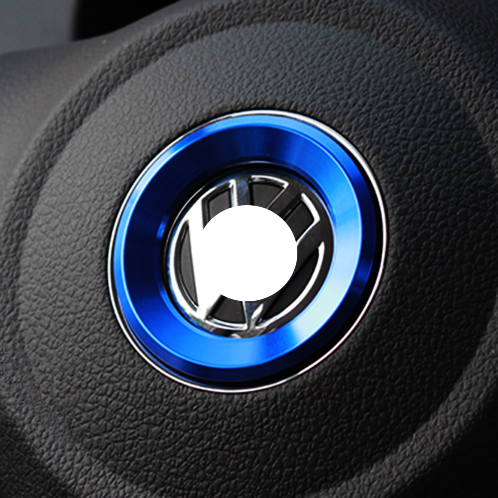 Car Styling Steering Wheel Logo Emblems Ring Decoration Sticker For Volkswagen VW Passat B7 B8 Bora POLO GOLF 6 7 Jetta MK6 RS