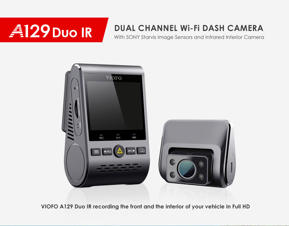 2019 NEW A129 Duo IR Front And Interior Dual Dash Cam 5GHz Wi Fi ...