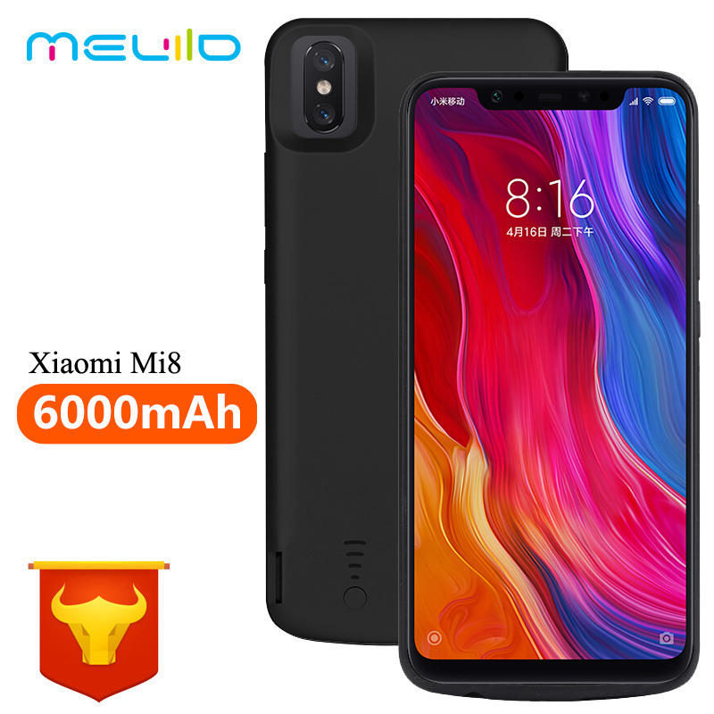 <font><b>6000mAh</b></font> Battery Case For <font><b>Xiaomi</b></font> Mi 8 Rubber External Charger Cover Shell For <font><b>Xiaomi</b></font> Mi 8 <font><b>Power</b></font> <font><b>Bank</b></font> For <font><b>Xiaomi</b></font> Mi 8 image