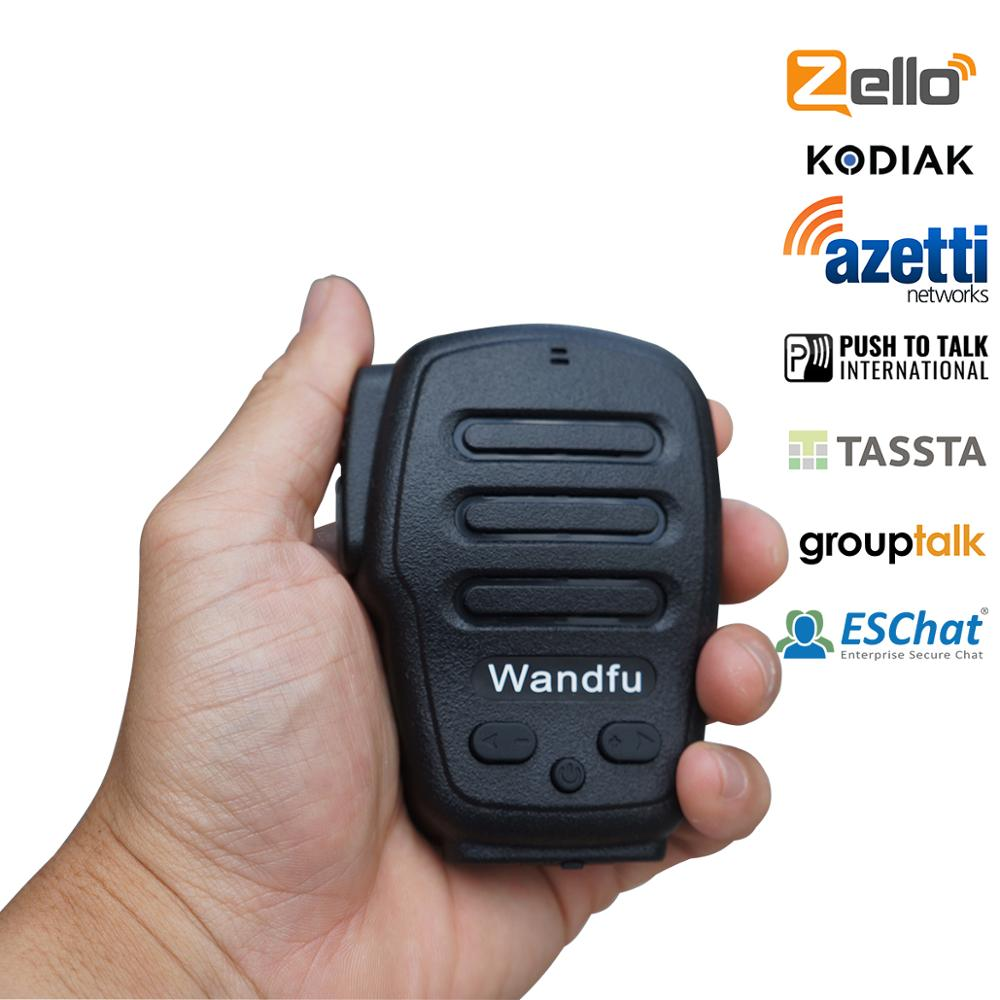 Waterproof walkie talkie 10m Hotel service zello ptt bluetooth wireless microphone for app IOS/Android free shipping