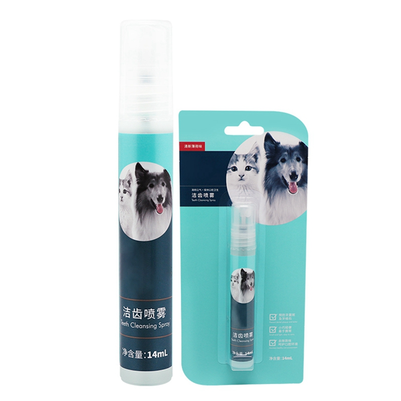 14 Ml Cat Dog Fresh Oral Spray Breath Freshener Safe Remove Odor Pet Cleaning Supplies