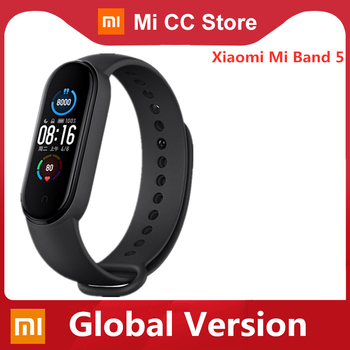 Global Version Xiaomi Mi Band 5 Bracelet Heart Rate Fitness Tracker Wristband 4 Color Strap 1.1 Inch AMOLED Screen Miband 5