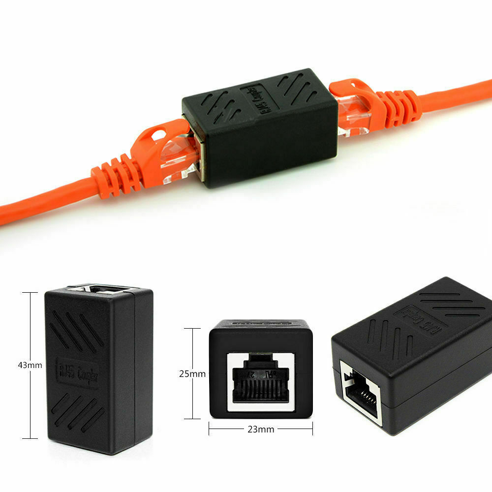 RJ45 LAN Internet Ethernet Cable Splitter Connector Adapter Extender Cat7/Cat6/Cat5e