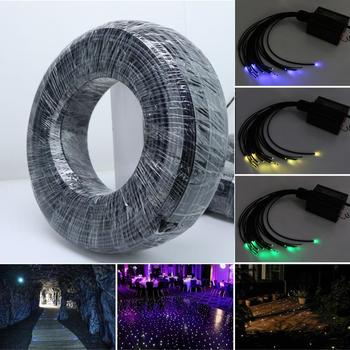цена на 100M/roll Bright and Soft End Glow Fiber Optic Cable PMMA black jacket Illumination decoration inner Dia 2mm/3mm/4mm/5mm/6mm/8mm