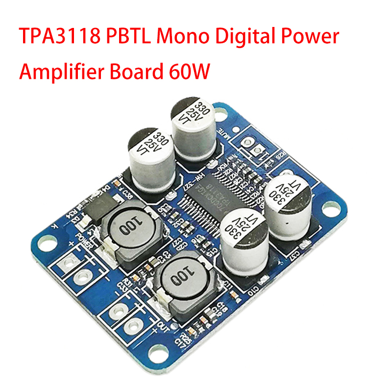 35W TDA8932 Amplifier Board Mono Audio Power Amp Digital Module DC 12V 24V HI