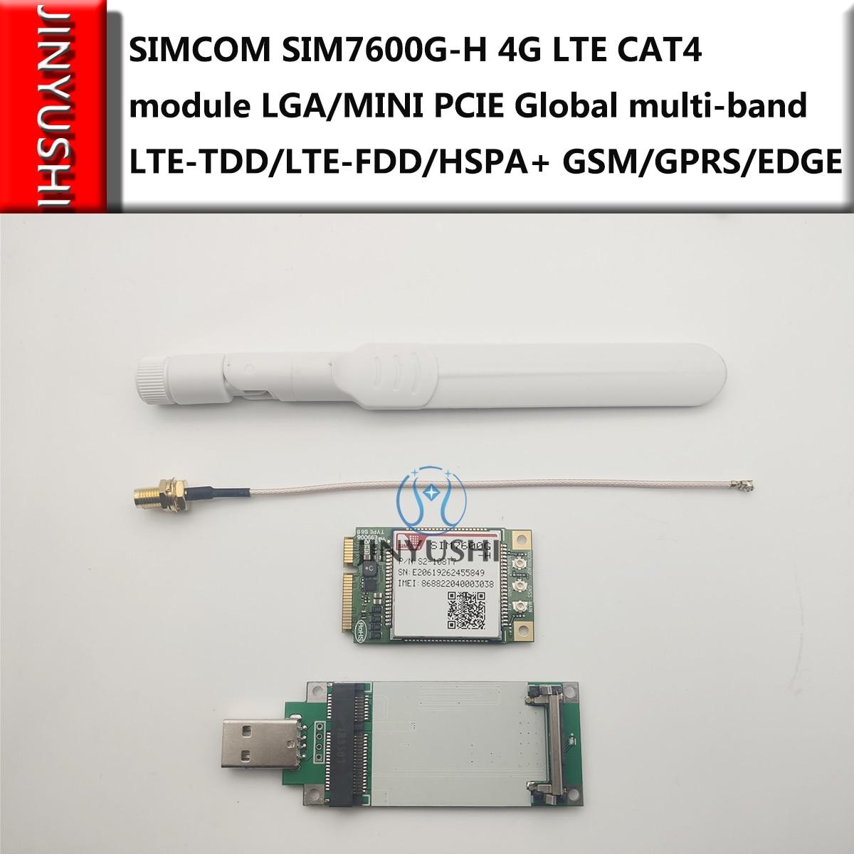 New! SIMCOM SIM7600G-H SIM7600G 4G LTE CAT4 Module LGA/MINI PCIE Global Worldwide Multi-band LTE-TDD/LTE-FDD/HSPA+ GSM/GPRS/EDGE
