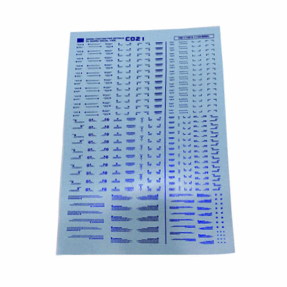 1 conjunto decalque para dl gundam bwr detalhe up água slide pasta adesivo