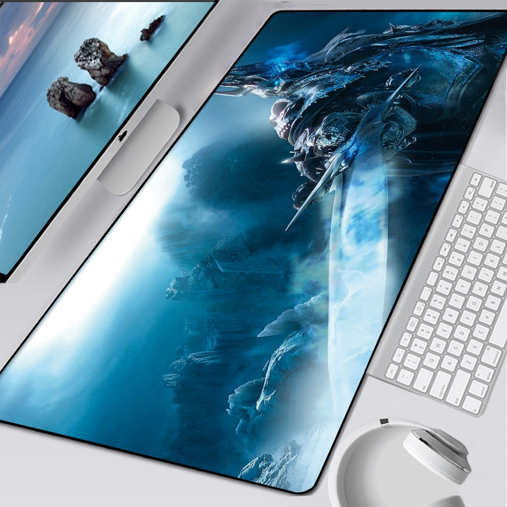 900x400mm Gaming Mouse Pad WOW Lich King Mousepad Large Rubber XL Keyboard Desk Mouse Mat Laptop Play Mat for World of Warcraft | Happy Baby Mama
