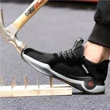 QZ07 2021 letnie obuwie ochronne męskie buty niezniszczalne przeciwzmarszczkowe anty-piercing buty do pracy Zapato Tenis De Seguridad Mujer