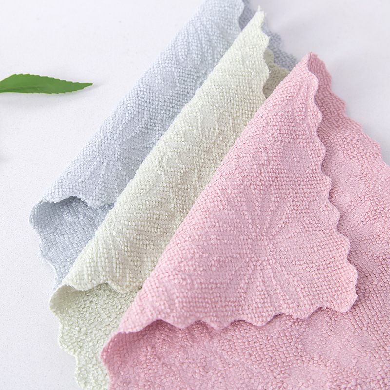 1Pcs Kitchen Wiping Rags Super Absorbent Cleaning Cloth Microfiber Home Washing Dish Anti-grease Cleaning Towel
