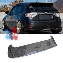 CF комплект из углеродного волокна, Автомобильный задний спойлер на крышу со светодиодный светильник для Subaru Impreza, задний багажник, крыло+ лампа 2001-2009, автомобильный Стайлинг