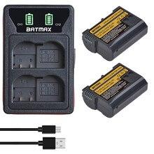 Batmax EN-EL15C EL15 Batterij + Led Usb Dual Charger Met Type C Poort Voor Nikon Z5, Z6, z6 Ii, Z7, Z7II D600 D610 D600E D800 D800E