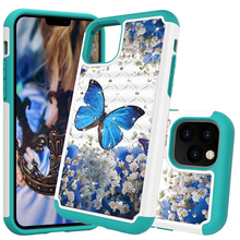 Glitter Diamond Phone Case For iPhone 11 TPU Hybrid Bling Jewelled Protective Back Cover Coque For iPhone 2019 5.8 6.1 6.5 Cases
