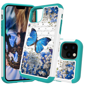 Image 1 - Glitter Diamond Phone Case For iPhone 11 TPU Hybrid Bling Jewelled Protective Back Cover Coque For iPhone 2019 5.8 6.1 6.5 Cases