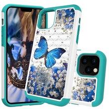 Lấp lánh Kim Cương Ốp Lưng Điện thoại Iphone 11 TPU Bling Jewelled Bảo Vệ Mặt Sau Coque Cho Iphone 2019 5.8 6.1 năm 6.5 Trường Hợp