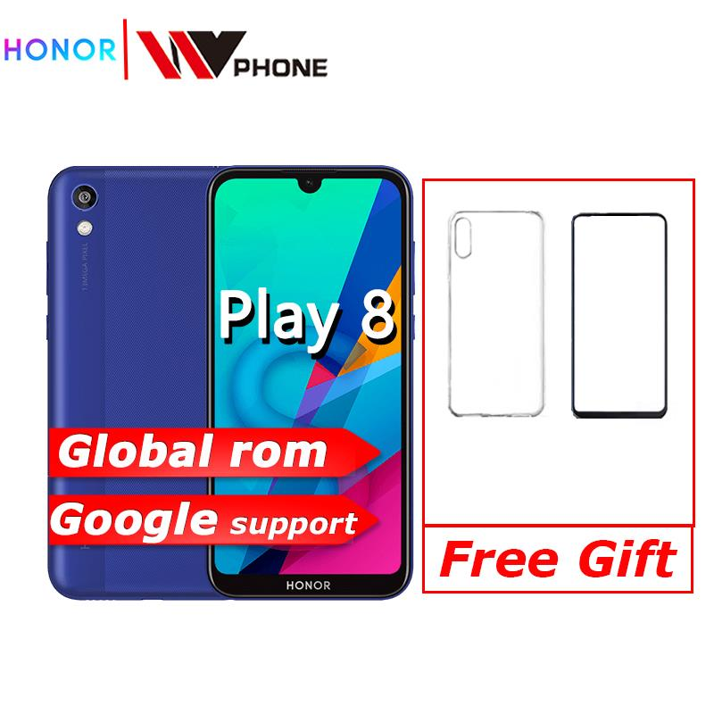 Original HONOR 8 play HONOR Play 8 MT6761 2GB 32GB Quad Core Y5 2019 Mobile Phone 5.71'' IPS Full Screen Android 9 Face Unlock
