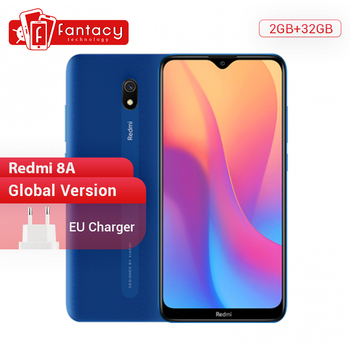 Купить Xiaomi Redmi 8A 8 A с глобальной версией, 2 Гб, 32 ГБ, 6,22 дюйма, Восьмиядерный мобильный телефон Snapdargon 439, 5000 мАч, смартфон с камерой 12 МП