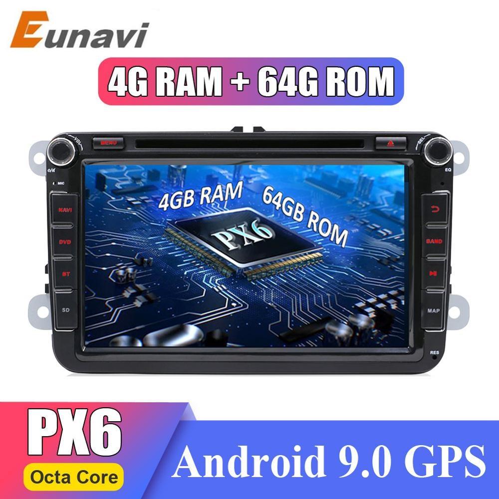 Eunavi 2 din Android 9 Octa Core 4GB 64GB Car DVD for VW Passat CC Polo GOLF 5 6 Touran EOS T5 Sharan Jetta Tiguan GPS Radio DSP car dvd for vw car dvd gps radio - title=