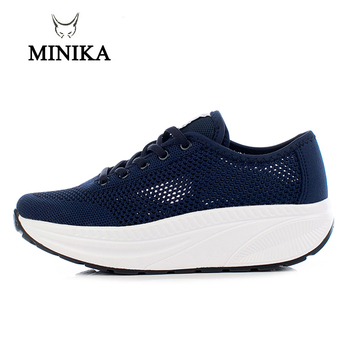 2020 Summer Shopping Toning Shoes For Women Fitness Walking Slimming Jogging Sneakers 4.5 cm Wedge Platform Swing Shoes 4 5 cm height toning shoes for women fitness walking slimming workout sneakers wedge platform air swing shoes for female