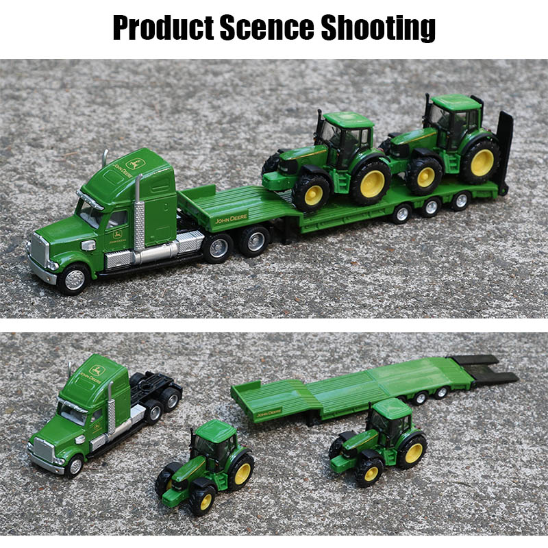 Siku 1:87 Alloy Truck Tractor Toy Simulation Flatbed Trailer Transport Vehicle Model Trail Tractors Models Cars Toys For Kids