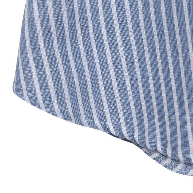Striped Pregnant Maternity Dress for Women 5