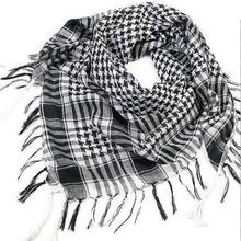 New Lightweight Tassel Arab Desert Shemagh KeffIyeh Scarf Wrap Pashmina Worthy Checked Men Mufflers(China)