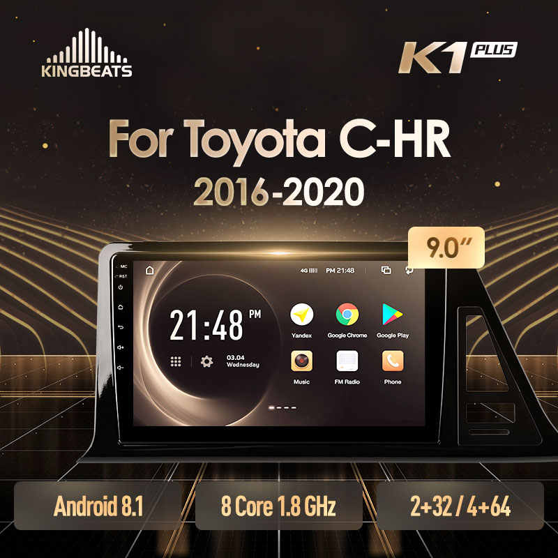 KingBeats Android 8.1 Octa-Core head unit 4G in Dash Car Radio Multimedia Video Player Navigation GPS For Toyota C-HR CHR
