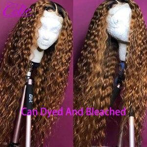 Image 4 - Celie peluca Frontal de encaje HD, peluca de ondas profundas 360, peluca de encaje Frontal larga de 28 a 30 pulgadas, peluca con malla Frontal de 250 de densidad, peluca con malla Frontal rizada