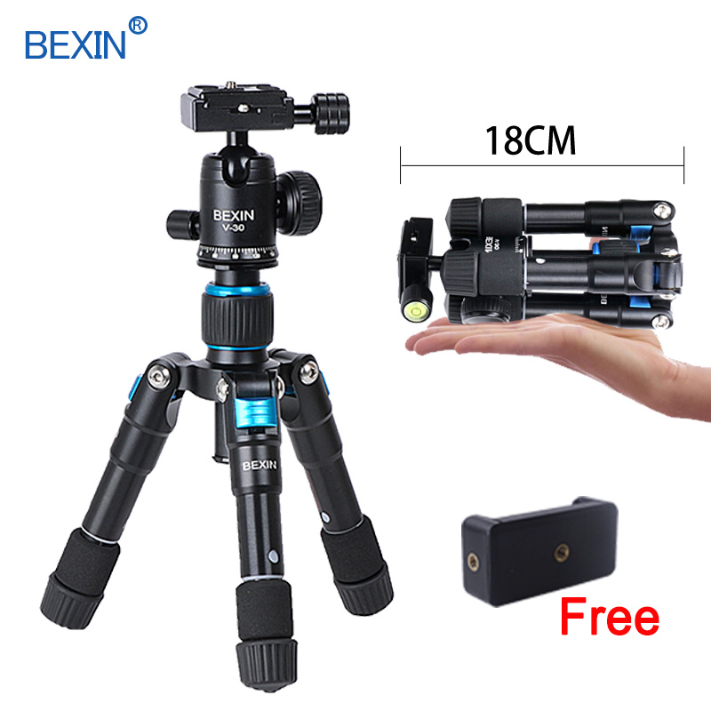 BEXIN Flexible Desktop Smartphone Tabletop Phone Photography Pocket Tripod Stand Portable Compact Mini Tripod For IPhone Camera