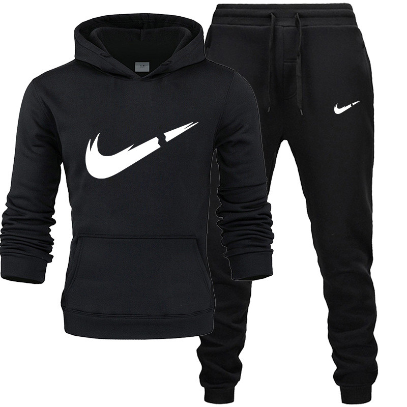 Tracksuit Hoodies Pants Two-Piece-Sets Men Sportswear Fashion New-Brand Thick For Of