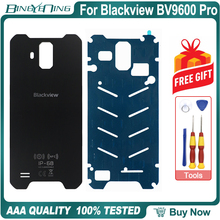 100% para Blackview BV9600 Pro, carcasa de batería, panel de cristal trasero, IP68, piezas de repuesto de vidrio