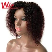 Парик из человеческих волос с эффектом омбре, парики из перуанских волос для женщин, T1b 30 99j, кудрявые вьющиеся парики, 150% дешевые парики маши...
