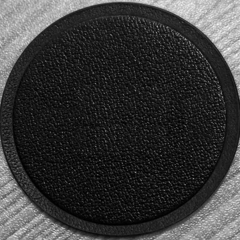 1 pcs disco magnético anti-deslizamento suporte de volta adesivo anti-queda comprimidos couro do plutônio auto suave suporte de telefone do carro placa de metal suporte