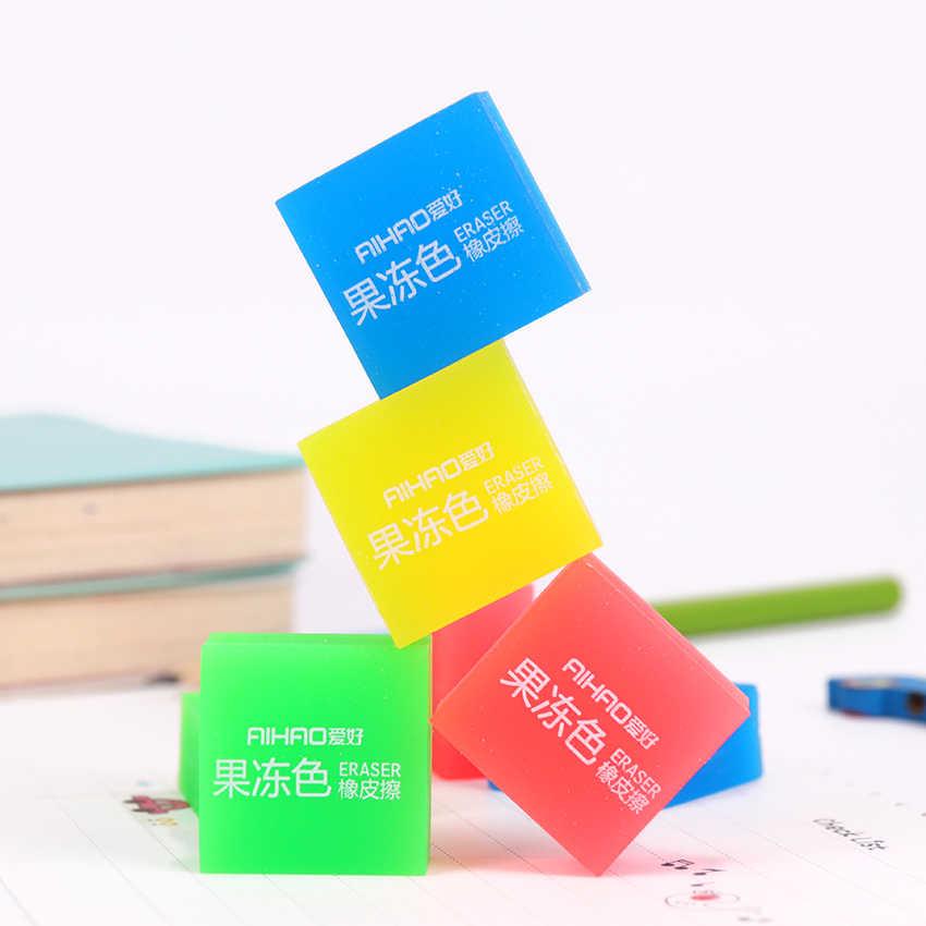 Kawaii Schreibwaren Gelee Farbe Radiergummi Student Preise Geschenk Einfarbig Bleistift Radiergummi Schule Liefert 1PC