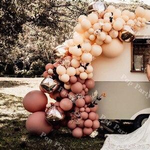 148 шт. воздушные шары арочный комплект пыльный ретро розовый румяна персиковый шар Гирлянда Свадьба годовщина день рождения весенние вечер...