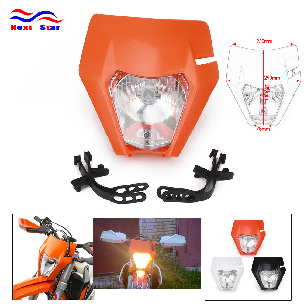 Motorcycle S2 Head Light Headlight Headlamp LampFor KTM EXC XCF SX SXF XC XCF SMR CR YZF DRZ Supermoto 125 150 250 350 450 530