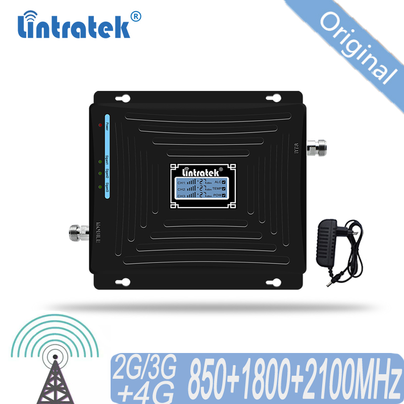 Cellular Signal Booster 4G 3G 2G <font><b>850</b></font> 1800 <font><b>2100</b></font> CDMA Tri Band Amplifier Mobile Signal Repeater at DCS WCDMA 2G 3G 4G LTE #50 image