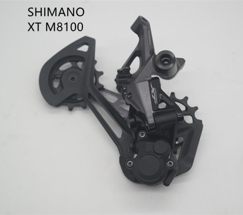Задний переключатель передач SHIMANO XT M8100 RD SGS для горного велосипеда, детали для горного велосипеда, 1x12s 12 Скоростей