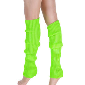 Boot Cuffs Warmer Knit Leg Stockings Striped Long Boot Thigh High Stockings Knitted Over The Knee Socks Cotton Leg Warmer Party