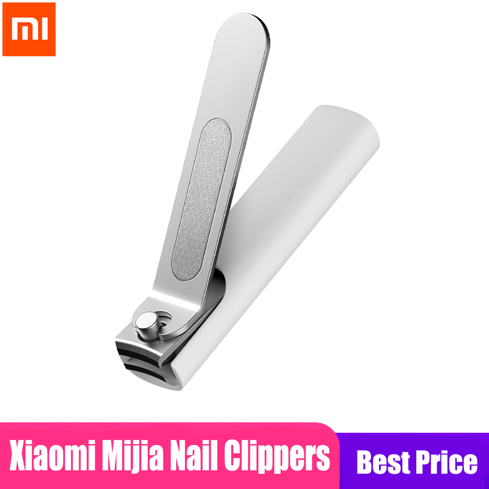 100% Xiaomi Mijia Stainless Steel Nail Clippers With Anti-splash cover Trimmer Pedicure Care Nail Clippers Professional File(China)